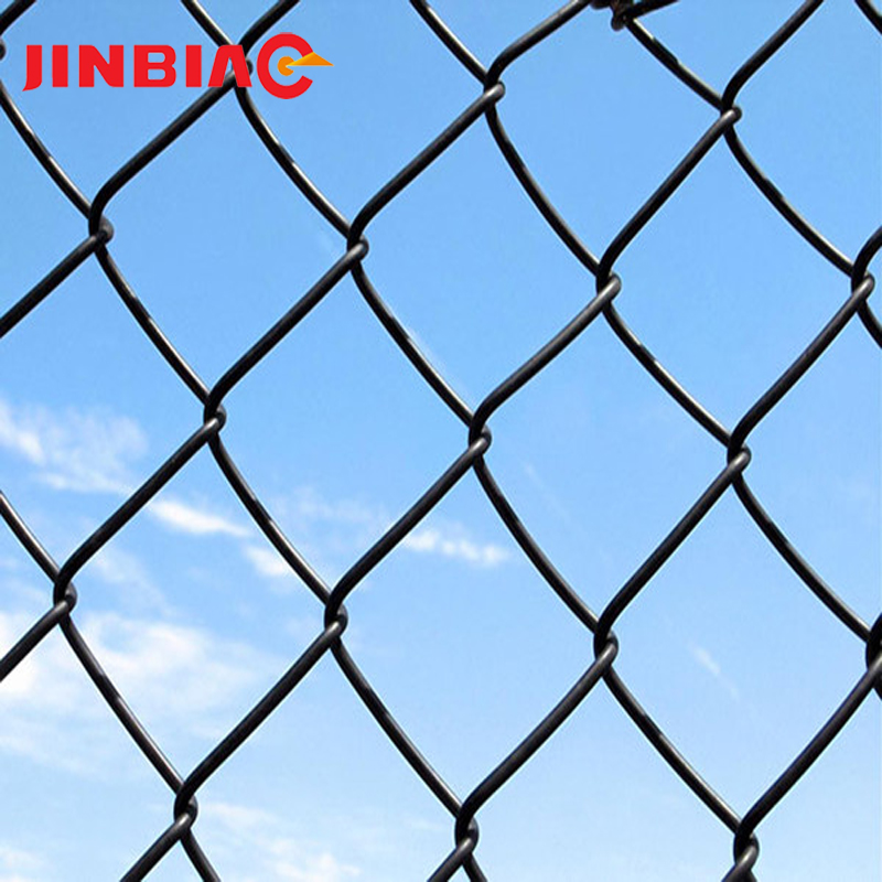 Green PVC Coated Roll Mesh Chain Link Wire Fence