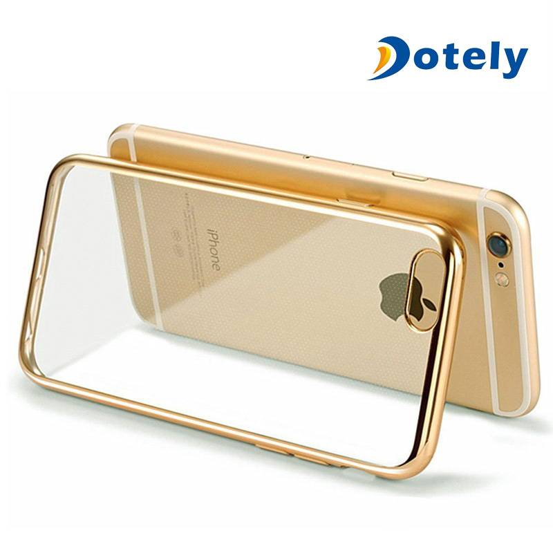 Crystal Rubber Plating TPU Soft Case Cover for iPhone 6/6s