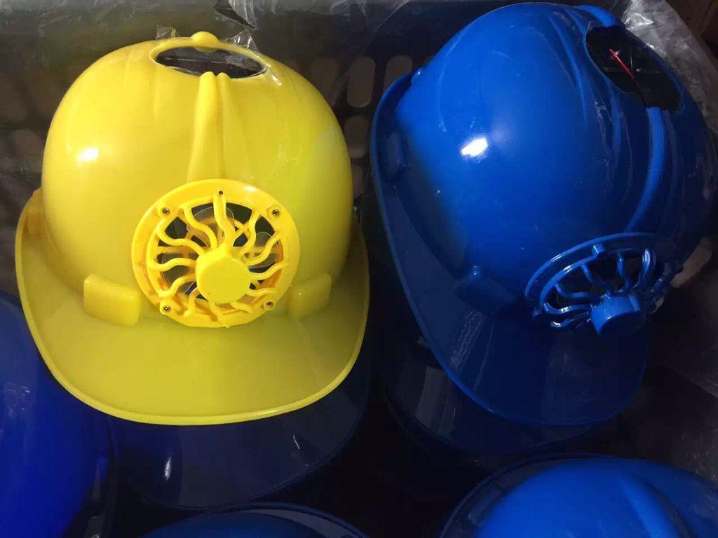 2017new designs china solar fan helmet , popular solar safety caps for engineering