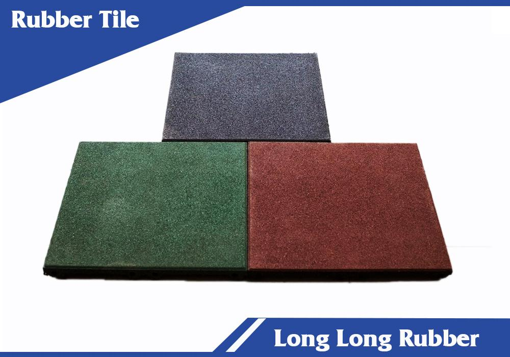 Recycled rubber tile flooring