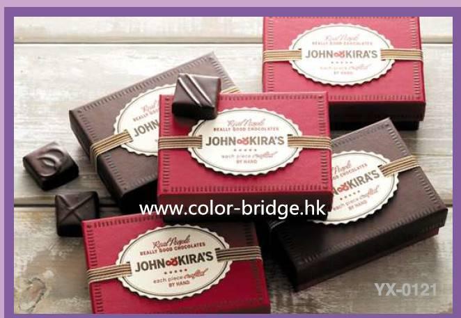 Customizing Luxurious Cardboard Paper Chocolate Box