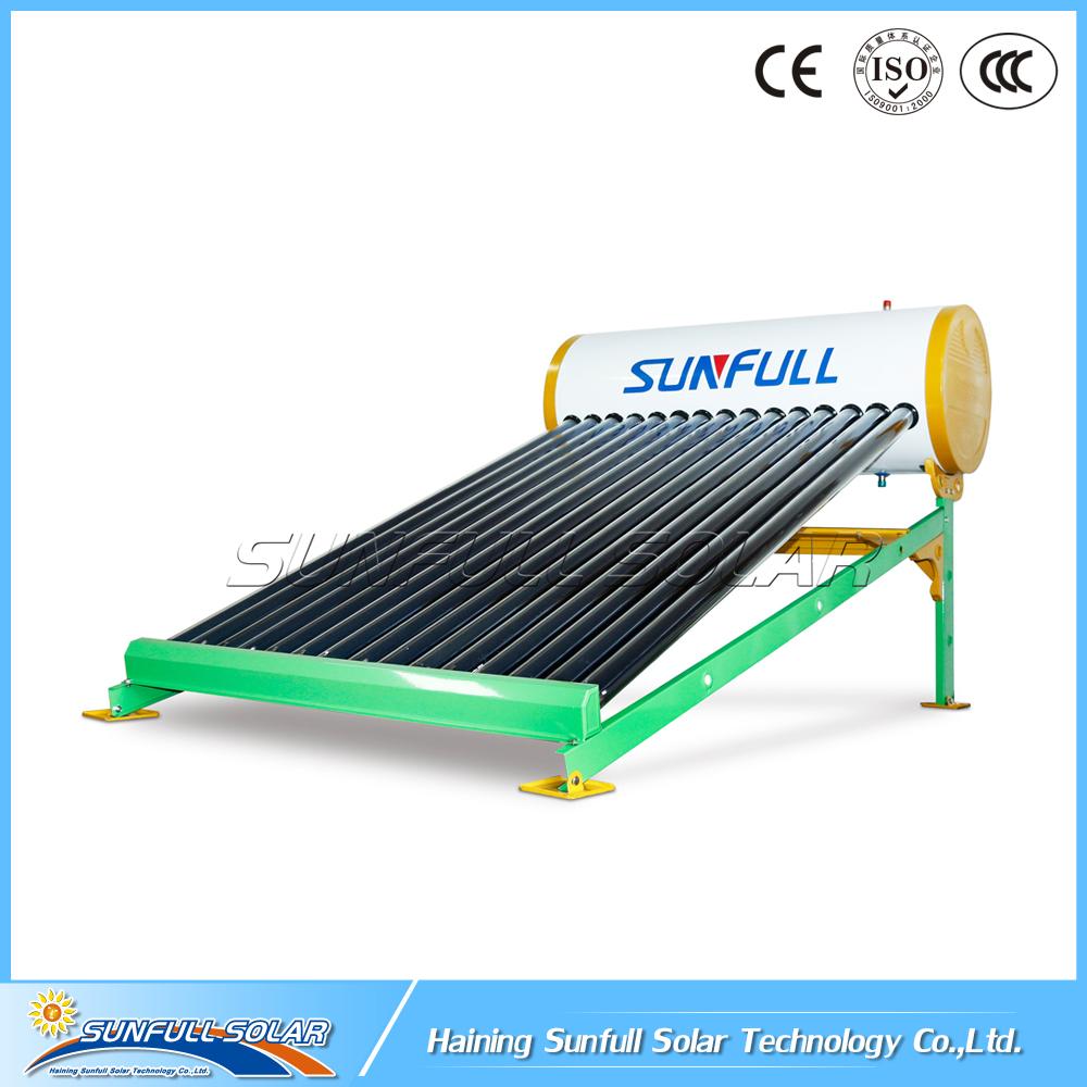 150L new design non pressure vacuum tube solar water heater for house