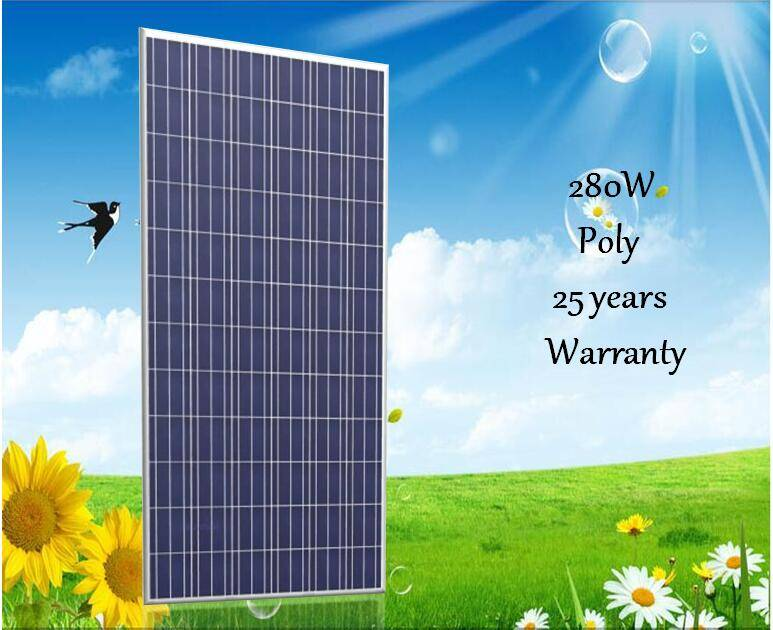 full certificate and high efficiency 280w poly solar panel
