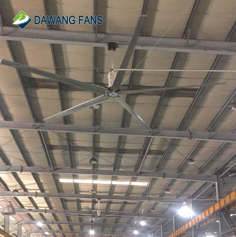 24 Feet Large Industrial Ceiling Fan with High Efficient Ventilation Effect