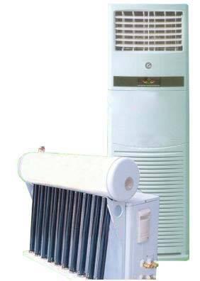 Hybrid vacuum tube energy saving system solar air conditioner