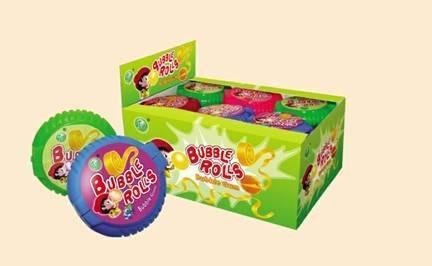 bubble rolls bubble gum