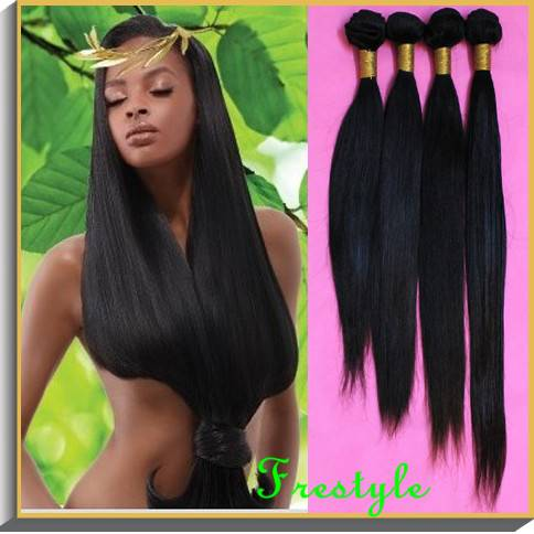 Brazilian virgin remy straight human hair extensions