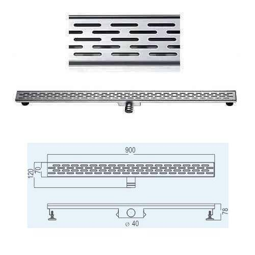 Stainless Steel Shower Drain (Side drainage, no flange)