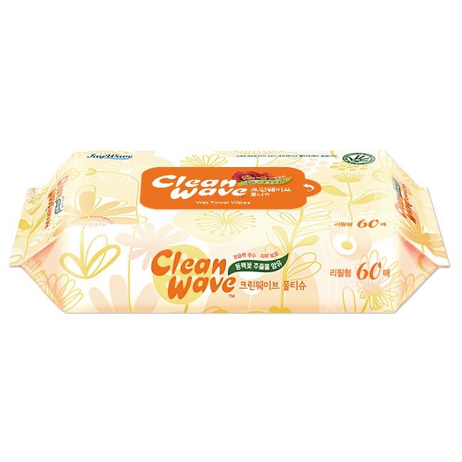 Cleanwave Basic(Wet wipes/Wet tissue)-60sheet