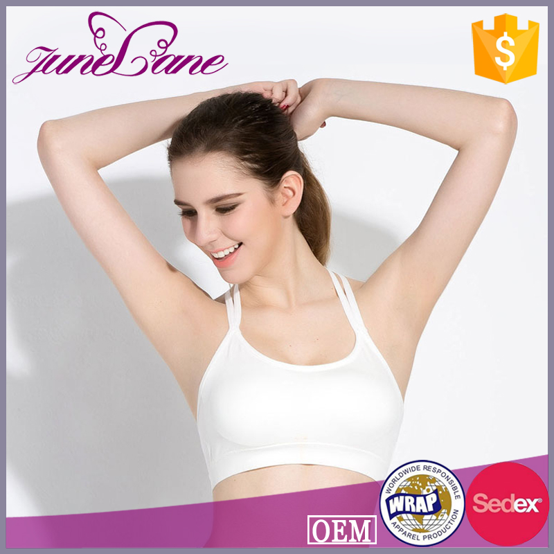 Soft multi strap with T back design crane sports wear bra for women