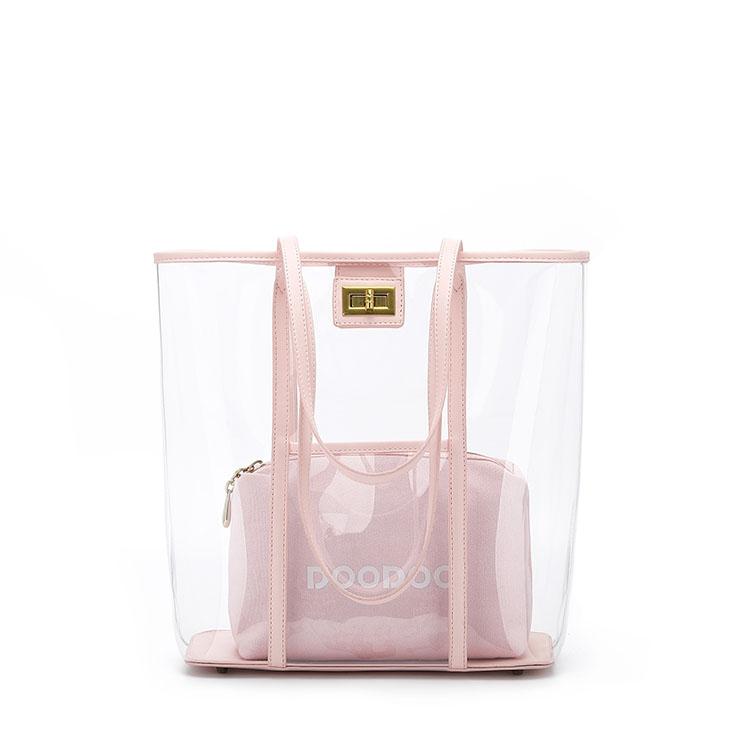 Fashion Transparent PVC Tote Bag
