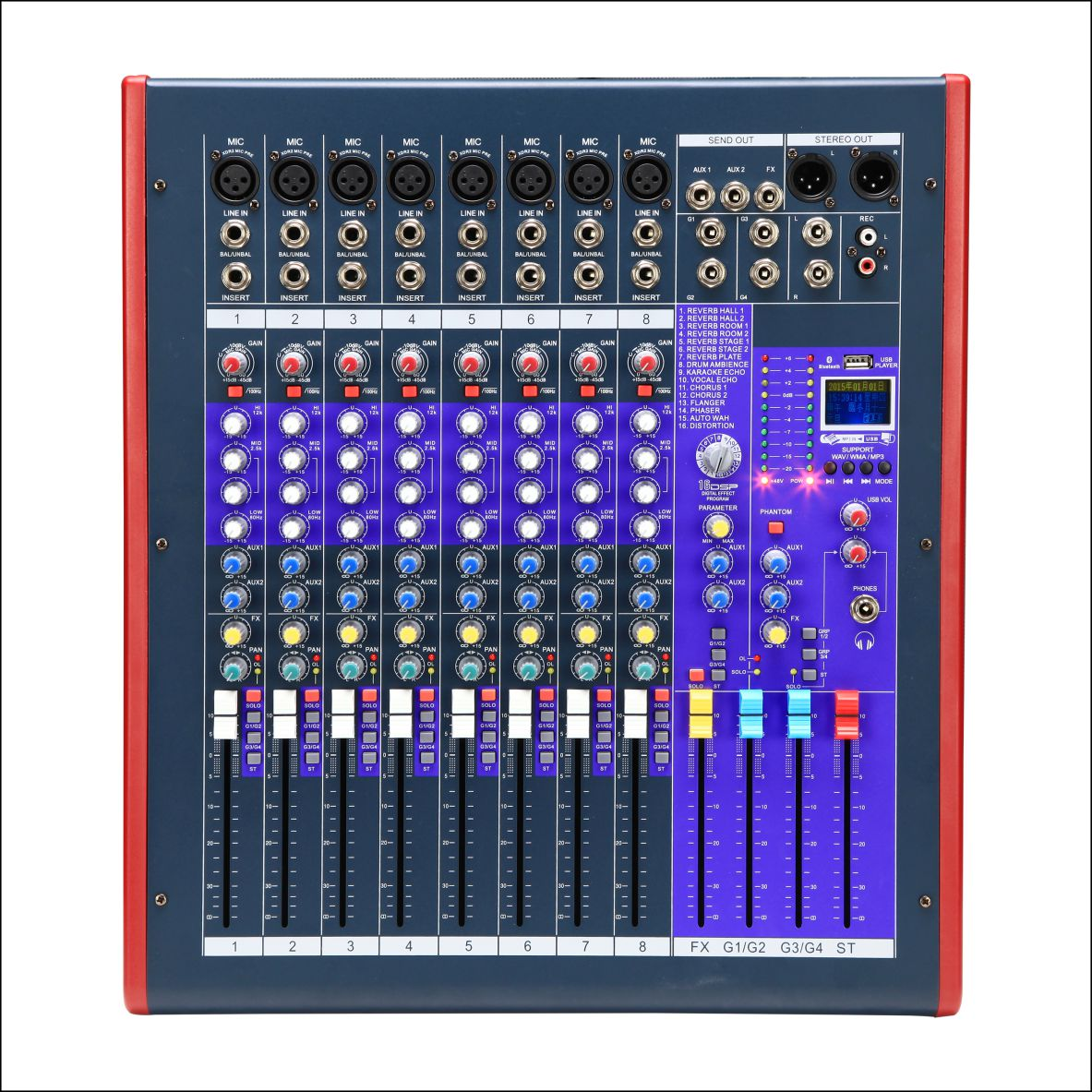 Sell 8-channel Audio Mixer with Built-in Mixer Echo Effector