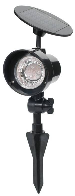 Solar Powered Landscape Spotlight, Black