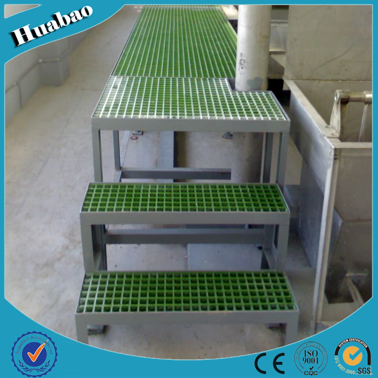 ISO approved corrosion resistant frp plastic flooringgrates