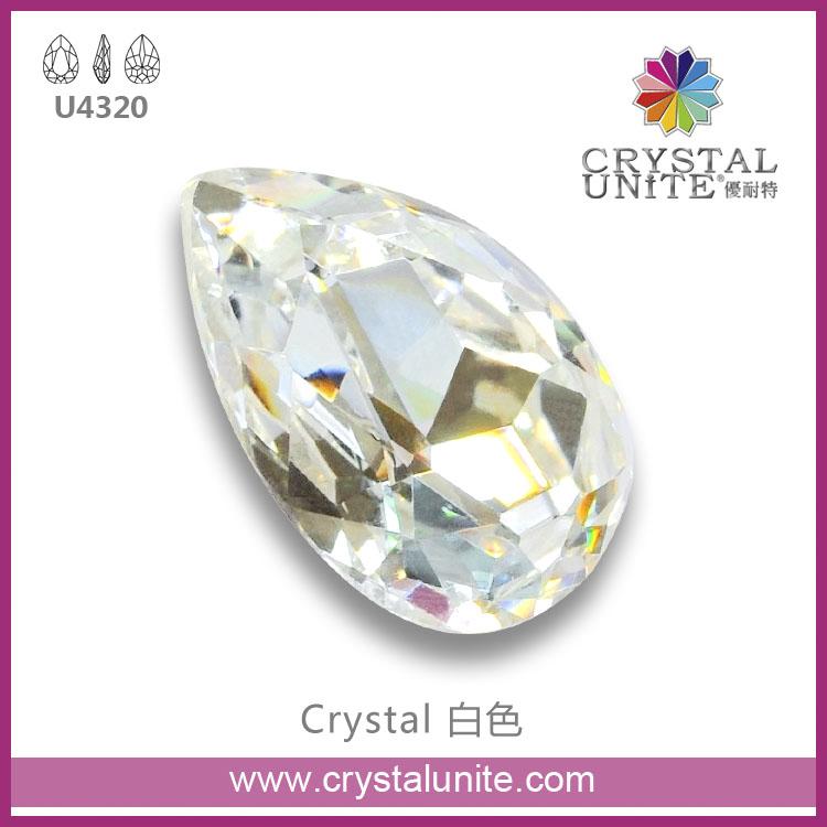 Crystal Unite flat back hotfix fancy stone