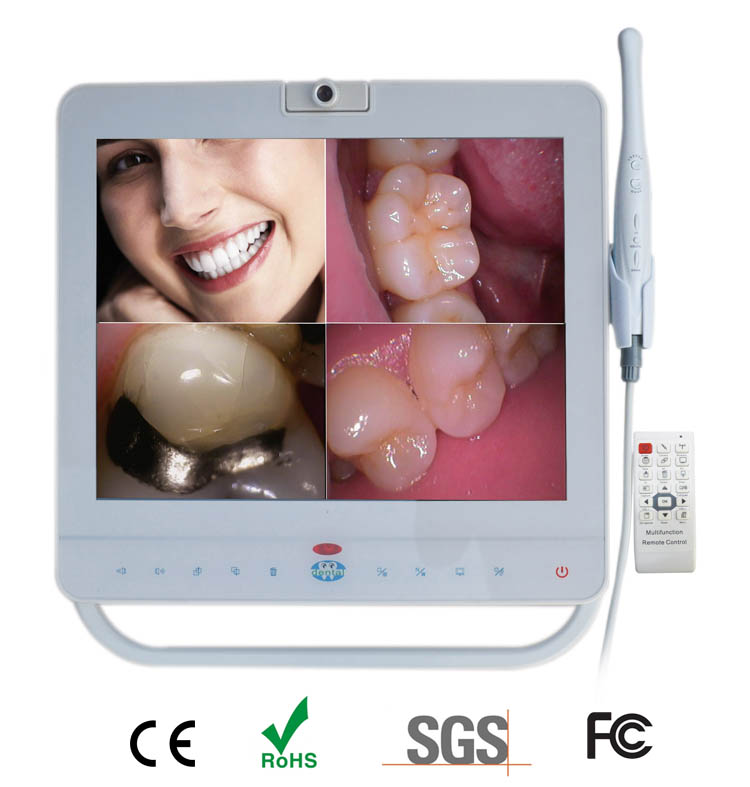 MD-1500 Dental camera with white 15 inch screen_Intraoral camera system