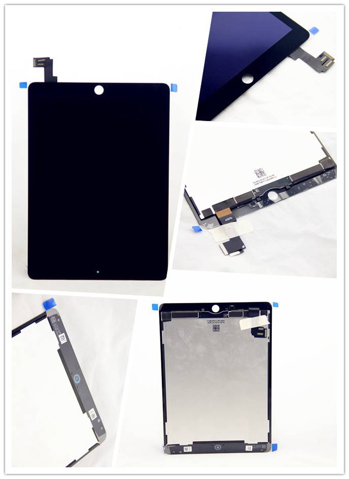 For Apple ipad air 2 touch screen assembly white/black