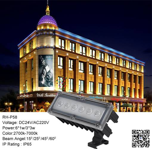 Factory High Quality 6*1W LED Project Light LED Flood Light