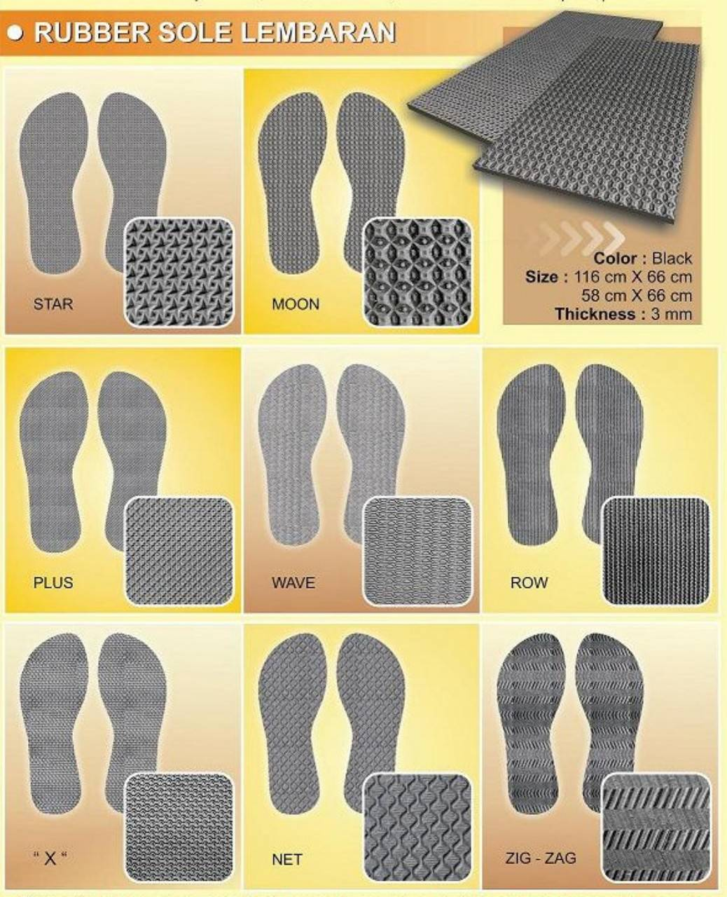 Rubber Sole Sheet