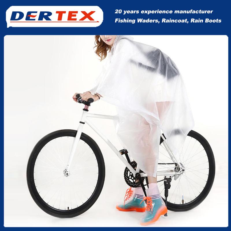 M Hot Sale Stylish Portable EVA Raincoat Poncho For Cycling