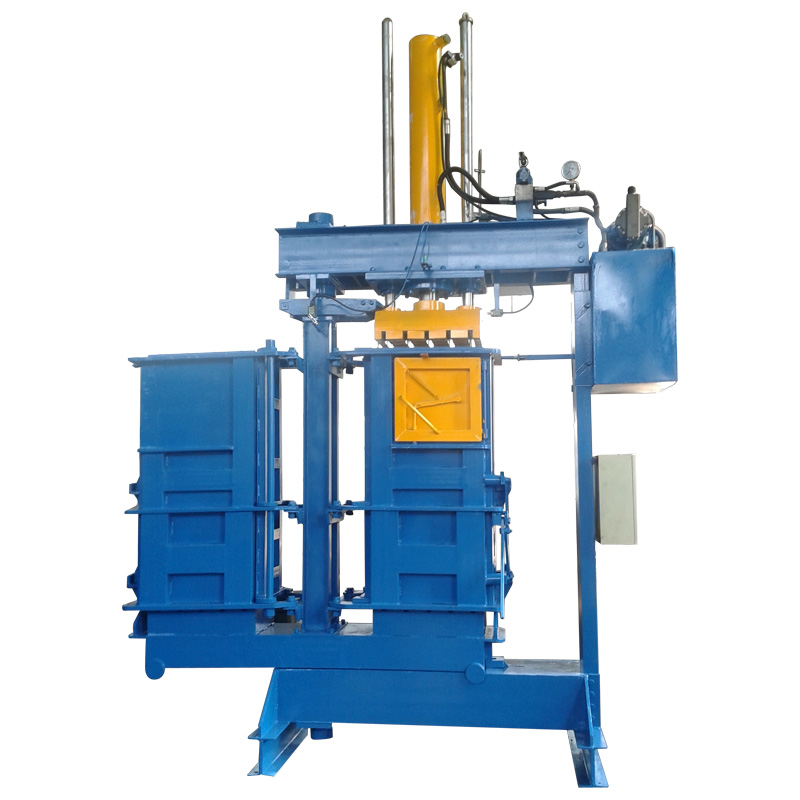 High Efficiency Double Chamber Cloth Baler Machine for sale