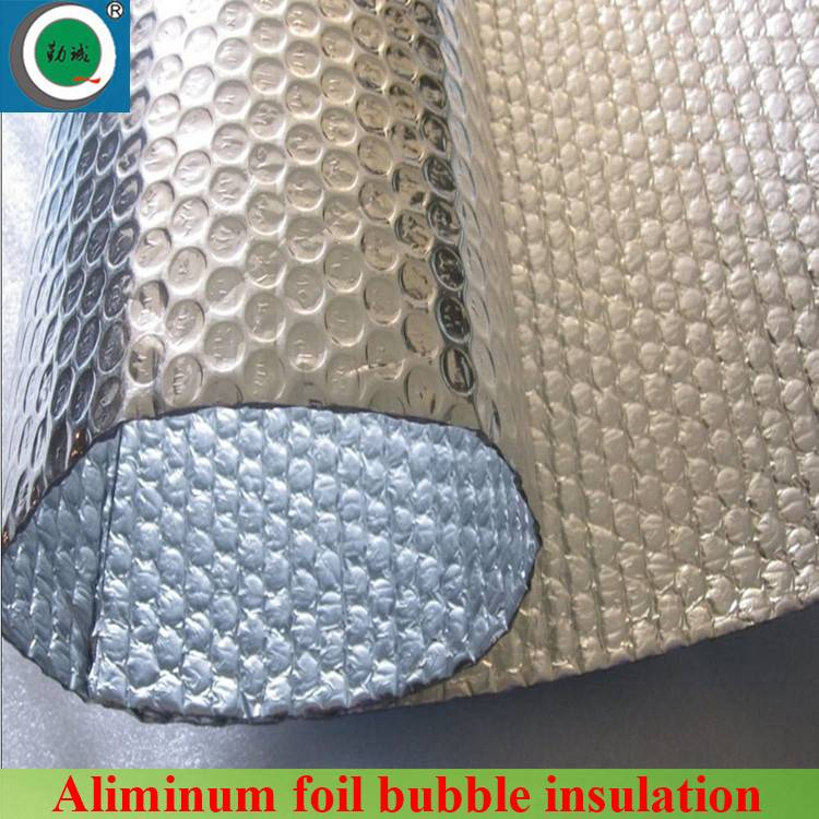 Reflective roofing bubble foil insulation with fire-proof