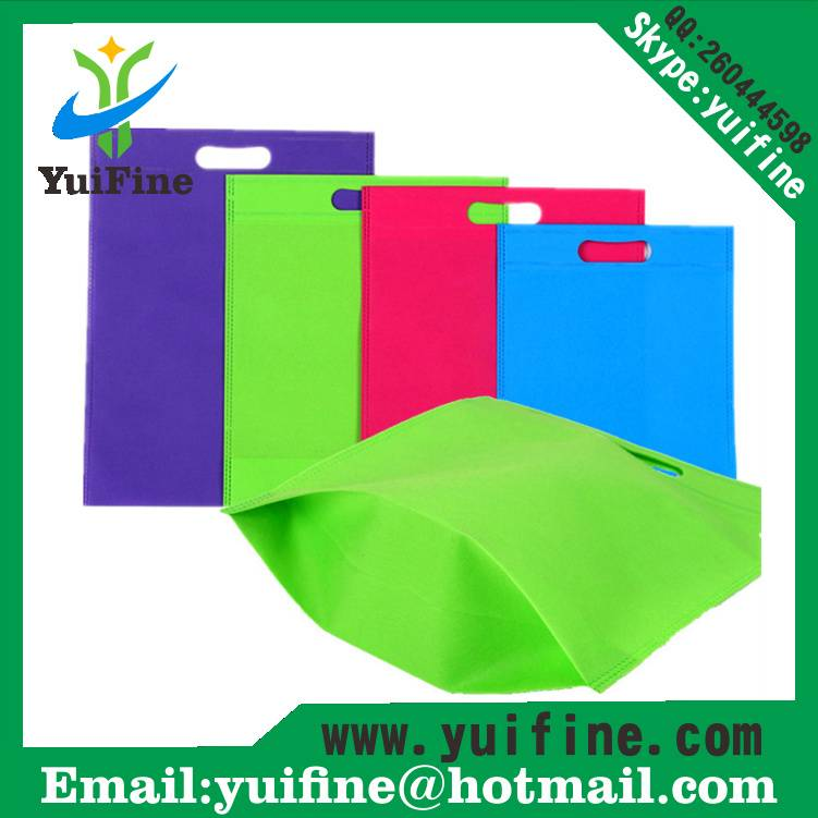 Customized LOGO Punching Nonwoven Bag with Buttom Non Woven Fabric Bag Reusable Cloth Bag