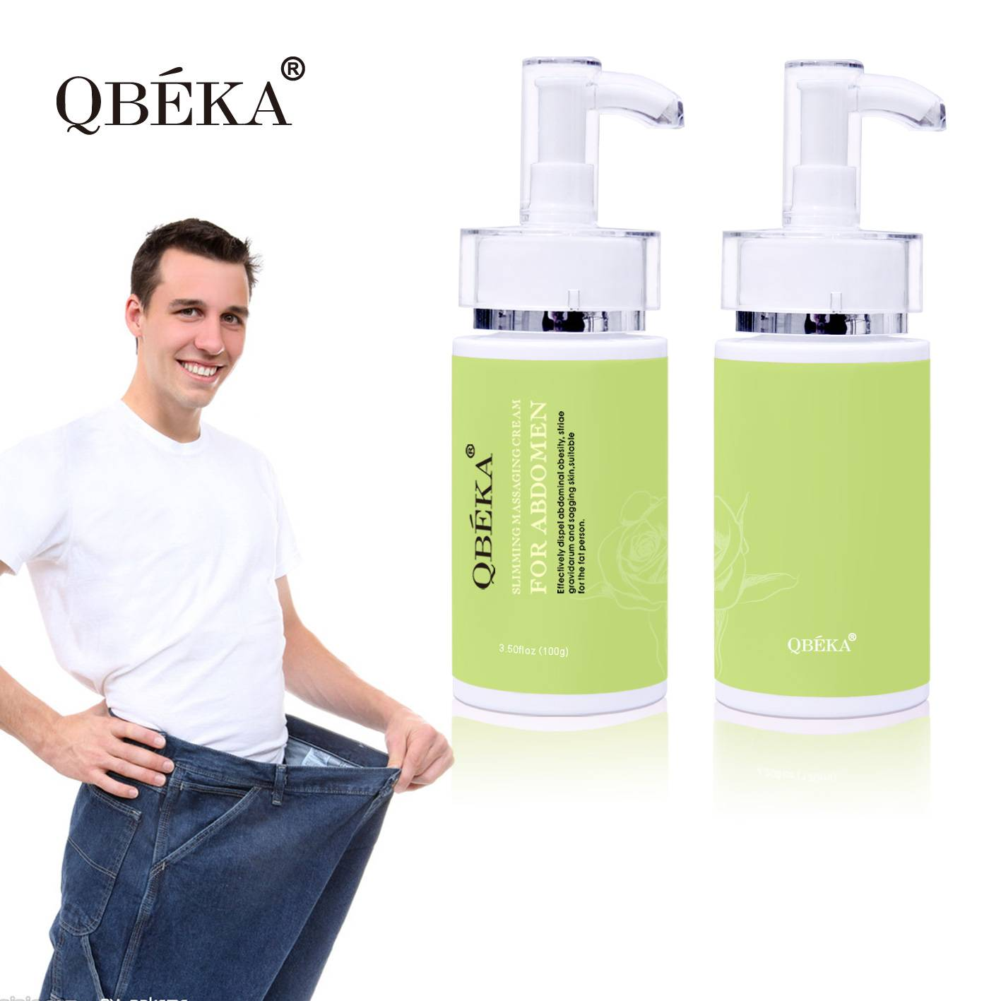 QBEKA Slimming Massaging Cream for Abdomen