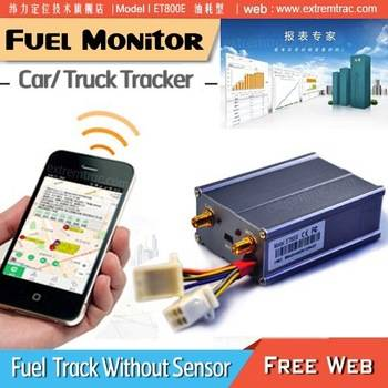 GPS Car Tracker ET800 2 Way Voice ACC Door Lock Image Fuel Monitor