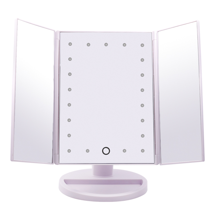 Touch Screen Trifold 21 LED Lighted Vanity Makeup Mirror