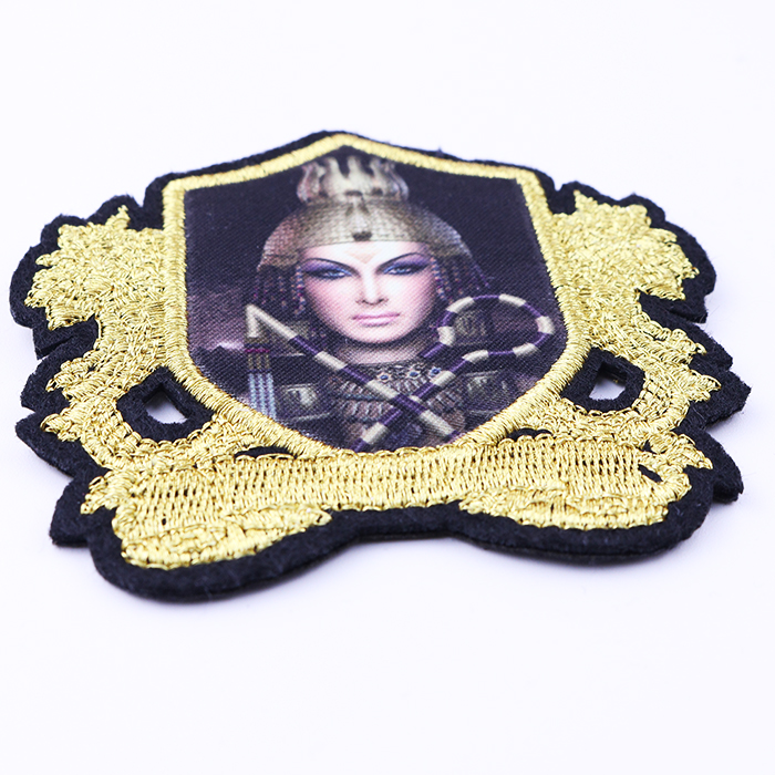 machine Embroidery polyester clothing patch