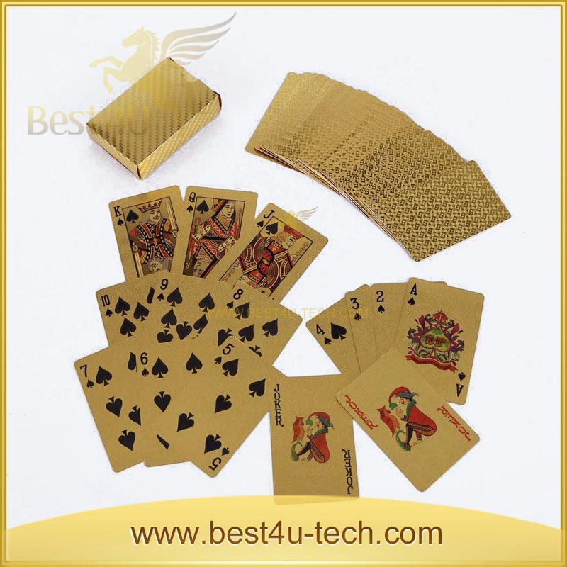 Custom Poker Storage Boxes Gold Playing Card