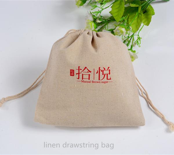 Jute linen gift pouch