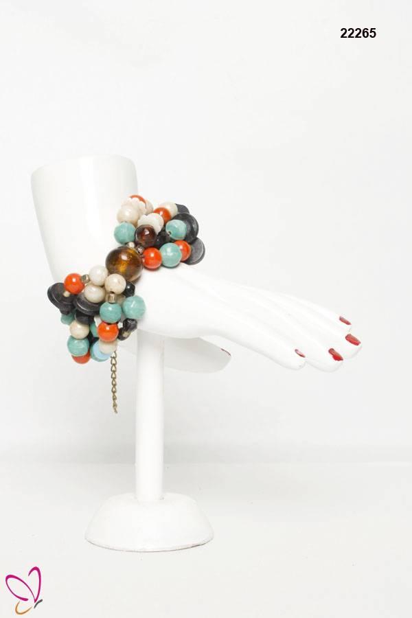 Beaded Bracelet, Bone Bracelet, Multi Color Bracelet