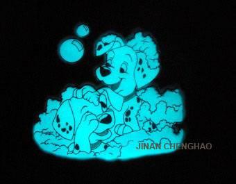 Photoluminescent Ceramic Glaze