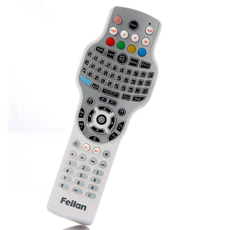 2.4G wireless keyboard mouse and IR learning remote control for HTPC