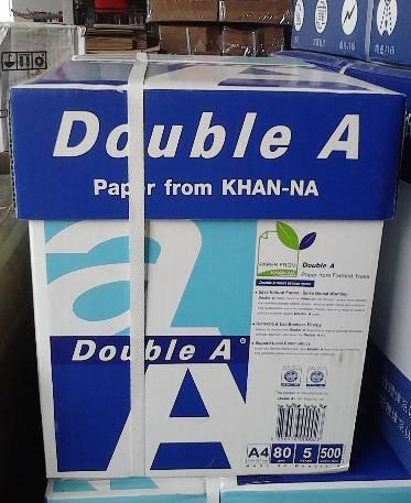 Double A A4 Copy paper virgin pulp