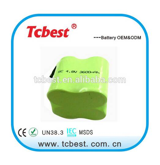 Global popular for 4.8v 600mah ni-mh aaa battery pack