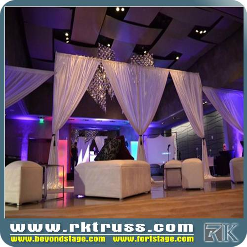 pipe & drape kits rental price outdoor portable stage pipe and drape round used for events/ exhibiti
