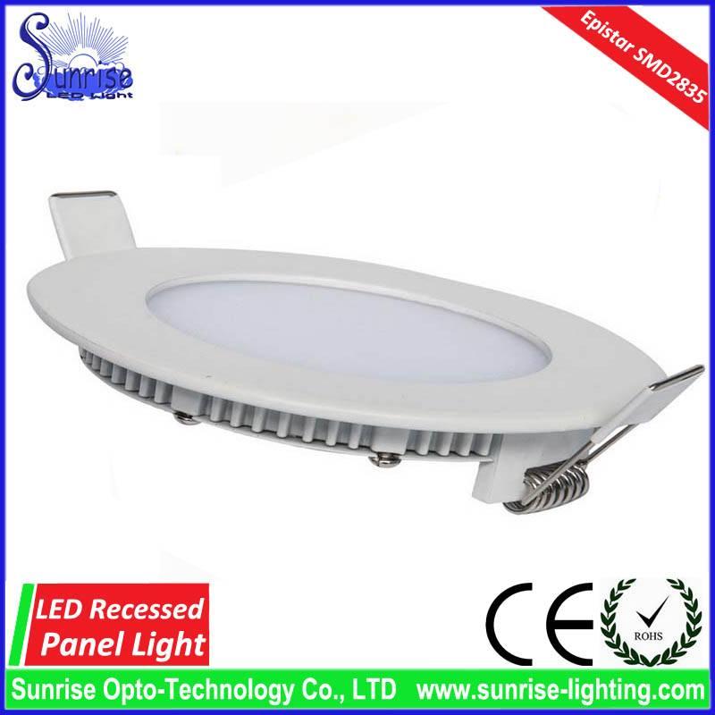 9W slim round recessed LED ceiling light