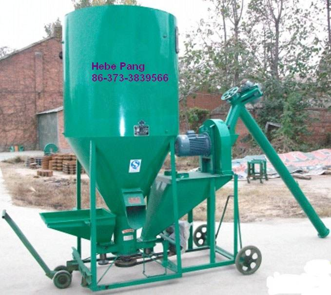 Combined Animal Feed Crusher and Mixer