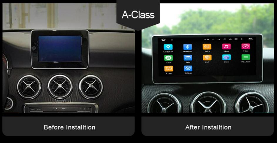 10.25 Inch Anti-Glare Touch Screen Android 8.0 Car Multimedia Navigation for Mercedes A B GLA CLA