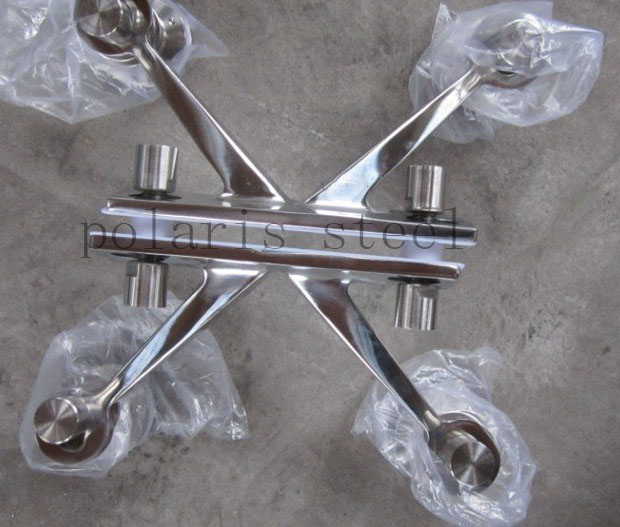 glass to wall glass door hinge Stainless steel