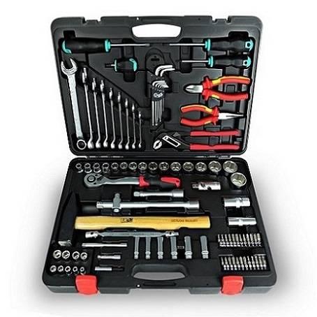 """92PCS Tool Set 1/4"""" & 1/2"""" Dr. Made in Taiwan Socket Set Tool Kit"""