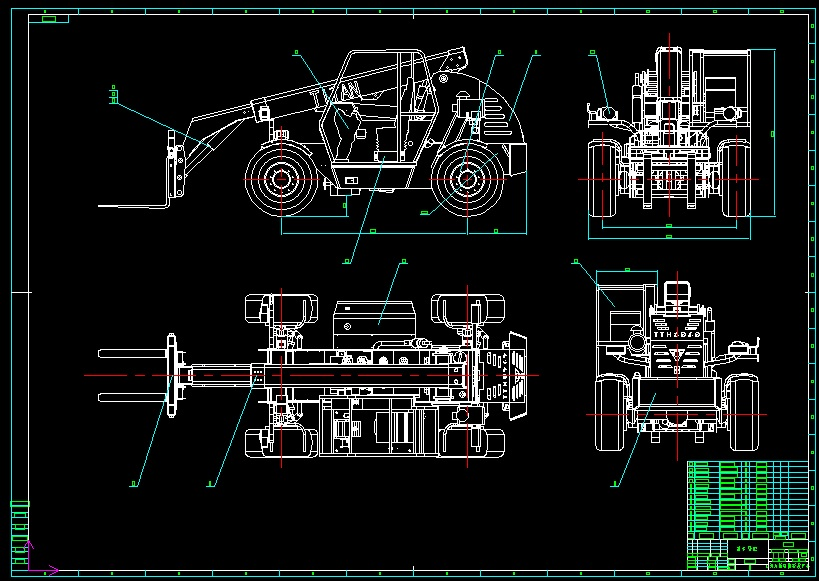 TTH2560,TTH3060 Forklift Set Of Blueprint Drawing