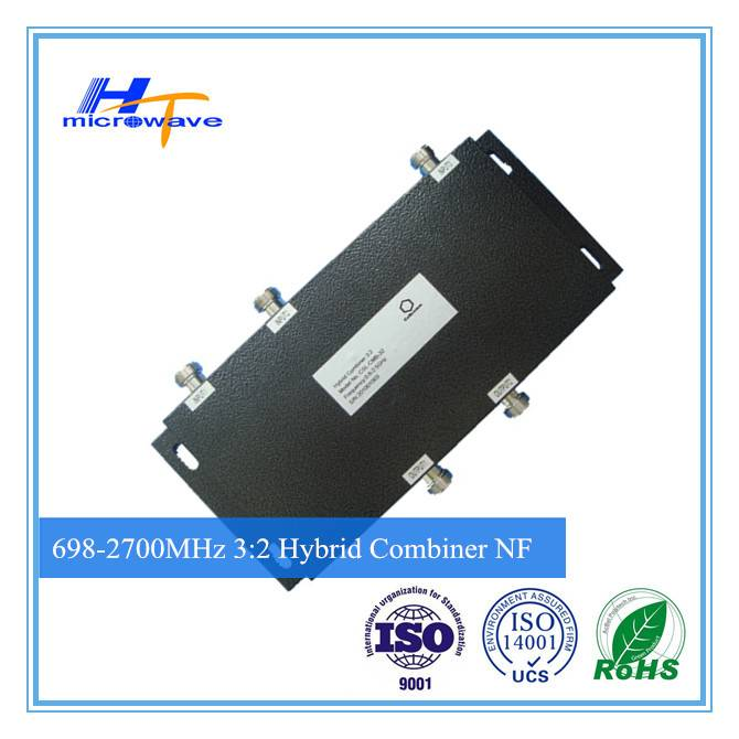 RF 700-2700MHz Hybrid Combiner 3 in 2 out 3:2 Combiner n female connector