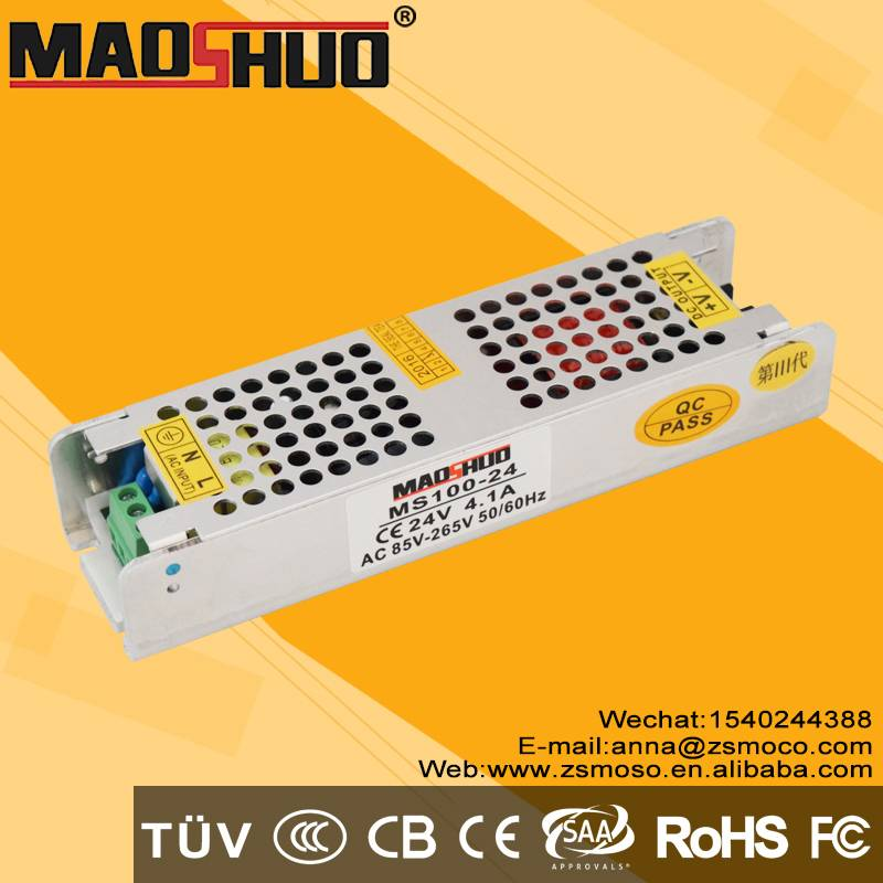 24V 100W 4A constant voltage LED driver power supply smps