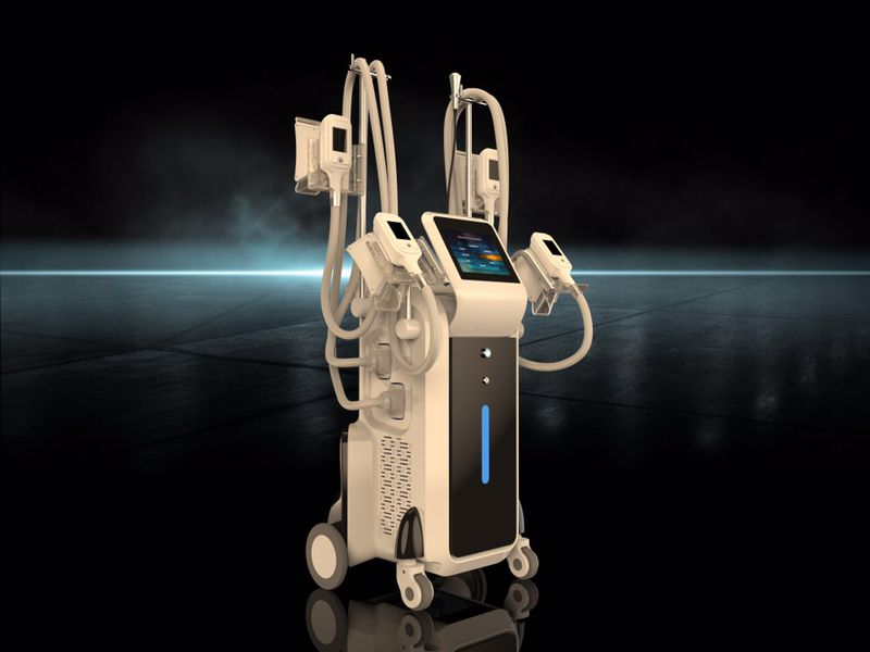 Cryolipolysis fat freeze machine 4 cryo handles can work together