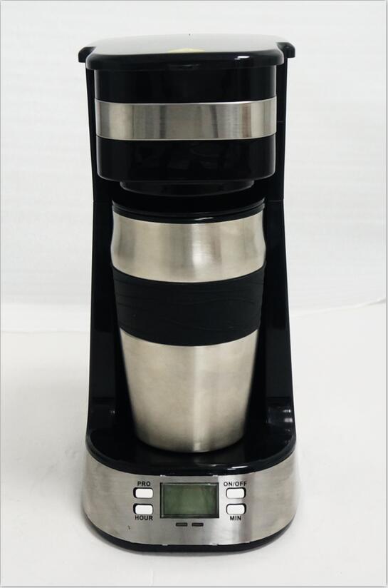 Digital 1 mug coffee maker with screen for program