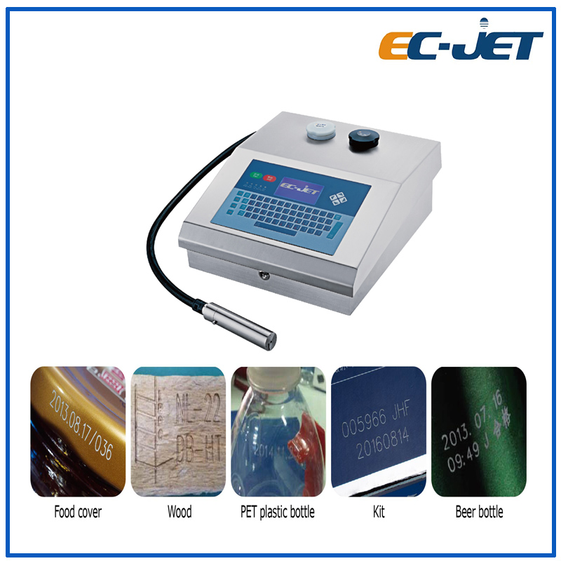 Small portable character easy operation Continuous inkjet printer(EC-JET500)